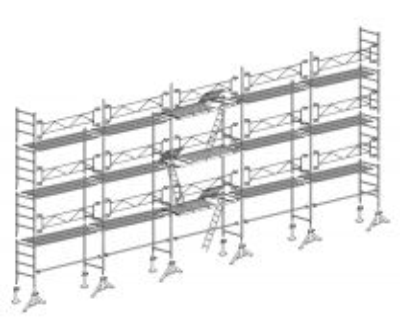 Échafaudage Altrad 49 Maçon 128 m²