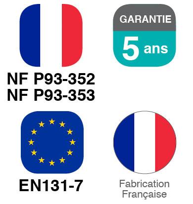 Norme, Garantie et Fabrication