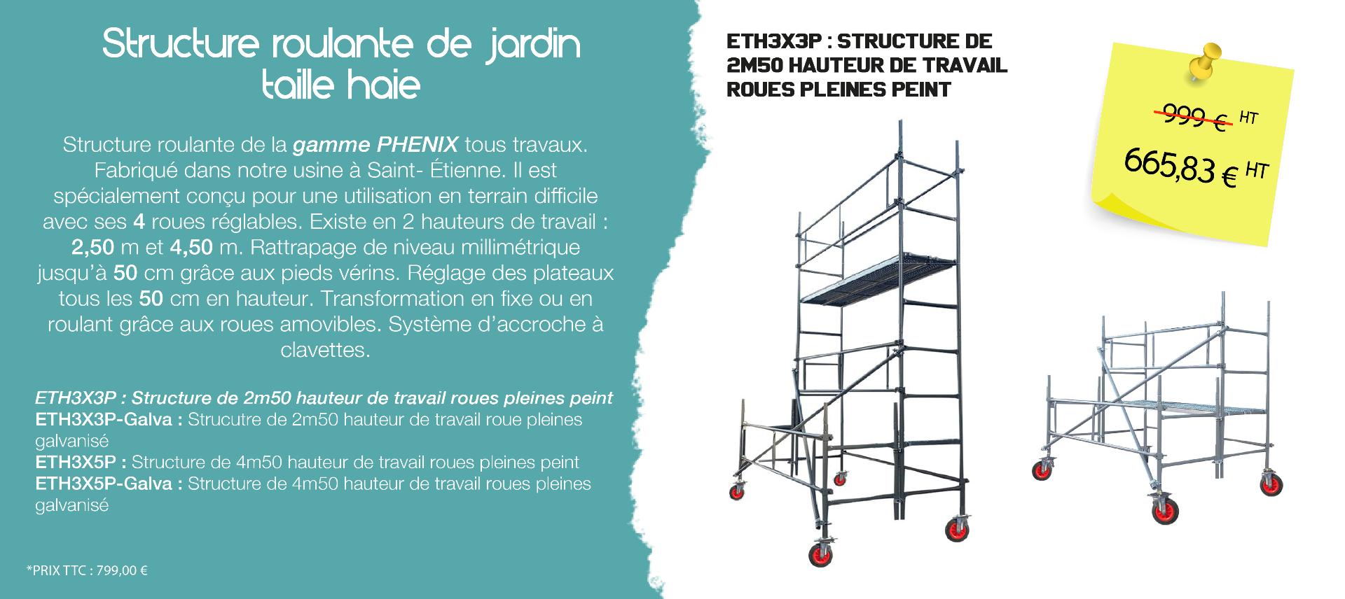 structure de jardin - taille haie - échafaudages stéphanois