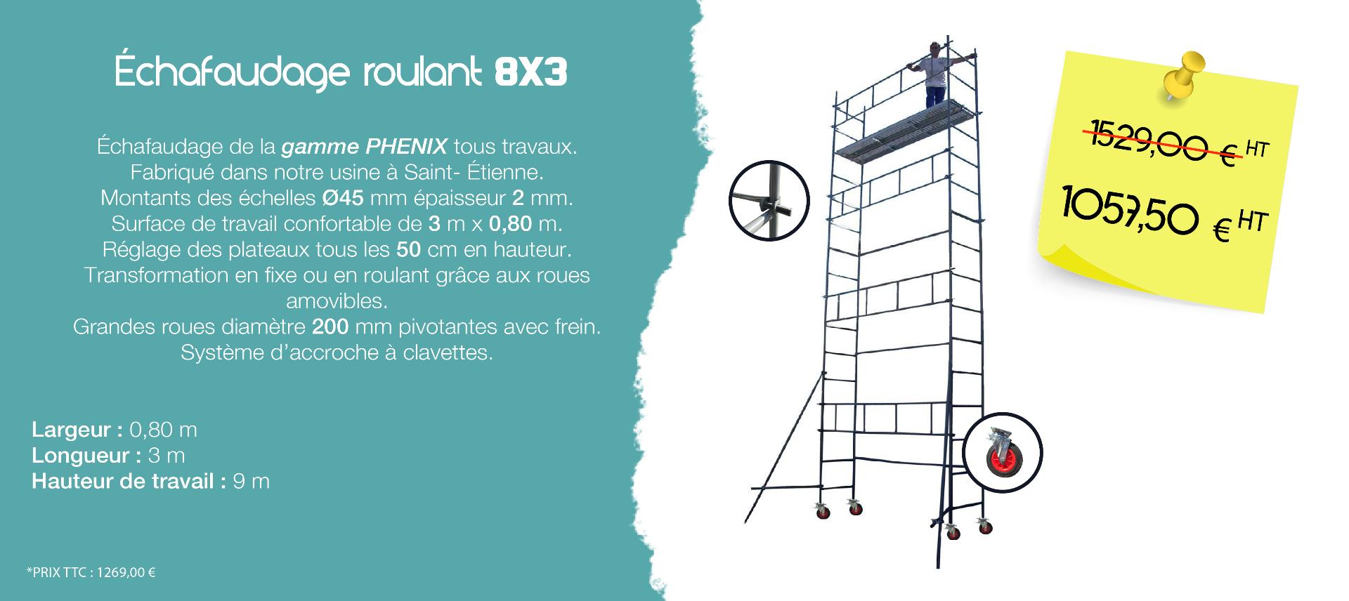 Roulant 8x3 - échafaudages stéphanois